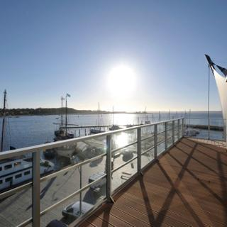 "Apartmenthaus Hafenspitze  Ap. 41 ""Seeblick""  Blickrichtung offene See / Binnenhafen Nord - Eckernförde"