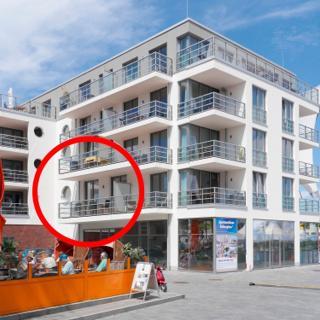 """Apartmenthaus Hafenspitze  Ap. 4 - """"MOIN MOIN"""" - Blickrichtung Offenes Meer/Strand - Eckernförde"""
