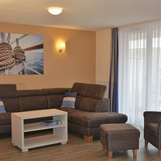"""Apartmenthaus Hafenspitze  Ap. 7 - """"Hafenbaer"""" -  Blickrichtung Innenstadt/Binnenhafen - Eckernförde"""