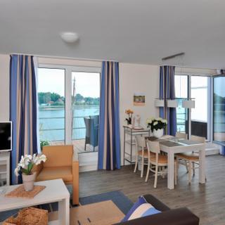 Apartmenthaus Hafenspitze  Ap. 40, Blickrichtung  Binnenhafen Nord-West/Offenes Meer/Innenstadt - Eckernförde