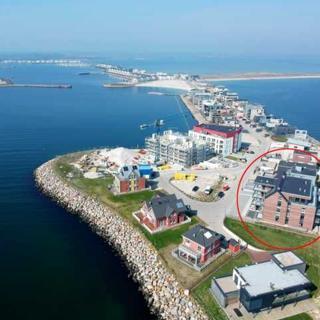 Komfort-Ferienwohnung Hafenkante by Meer-Ferienwohnungen - Wasserblick-Wohnzimmer-Balkon-Küche-Schlafzimmer-Bad - Kappeln-Olpenitz