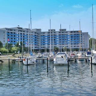 Penthousewohnung vor der Promenade, Ostsee und Hafen - sonnige Penthousewohnung mit W-LAN und Traumblick auf Ostsee - Damp
