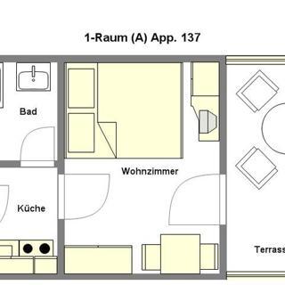 Parkresidenz Dierhagen-Strand - 1-Raum App ca. 21m² (S1) - Dierhagen