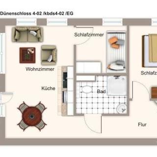 Dünenschloss 4-02 - kbds4-02 Dünenschloss 4-02 - Kühlungsborn