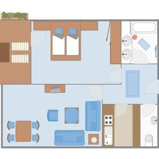 Ferienwohnungen Trinkl - mit Hotelservice - 2-Raum mit Bergblick, Haus Südseite - Bad Wiessee