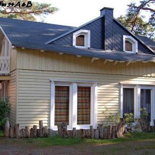 W: Strandhäuser im Dünenweg 54 a - h mit Terrasse/Balkon - Doppelhaus Nr. 54a mit Terrasse - Baabe