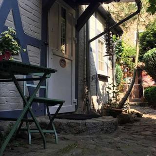 Gohr- Ferienwohnungen - Kleinstes Ferienhaus Stralsunds mit Gartenblick - Stralsund