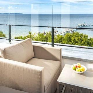 """Villa Philine - F612   Penthouse 28 mit Meerblick & Pool - Villa Philine Penthouse 28  """"Hemingway"""" - Sellin"""